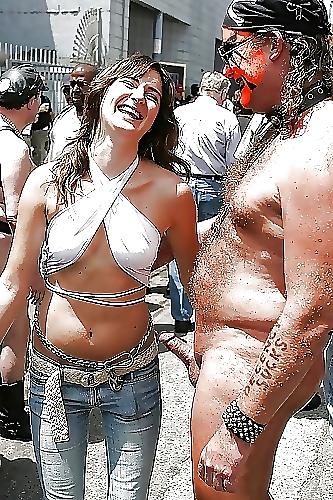 Naughty cfnm sluts in hot leather-9591