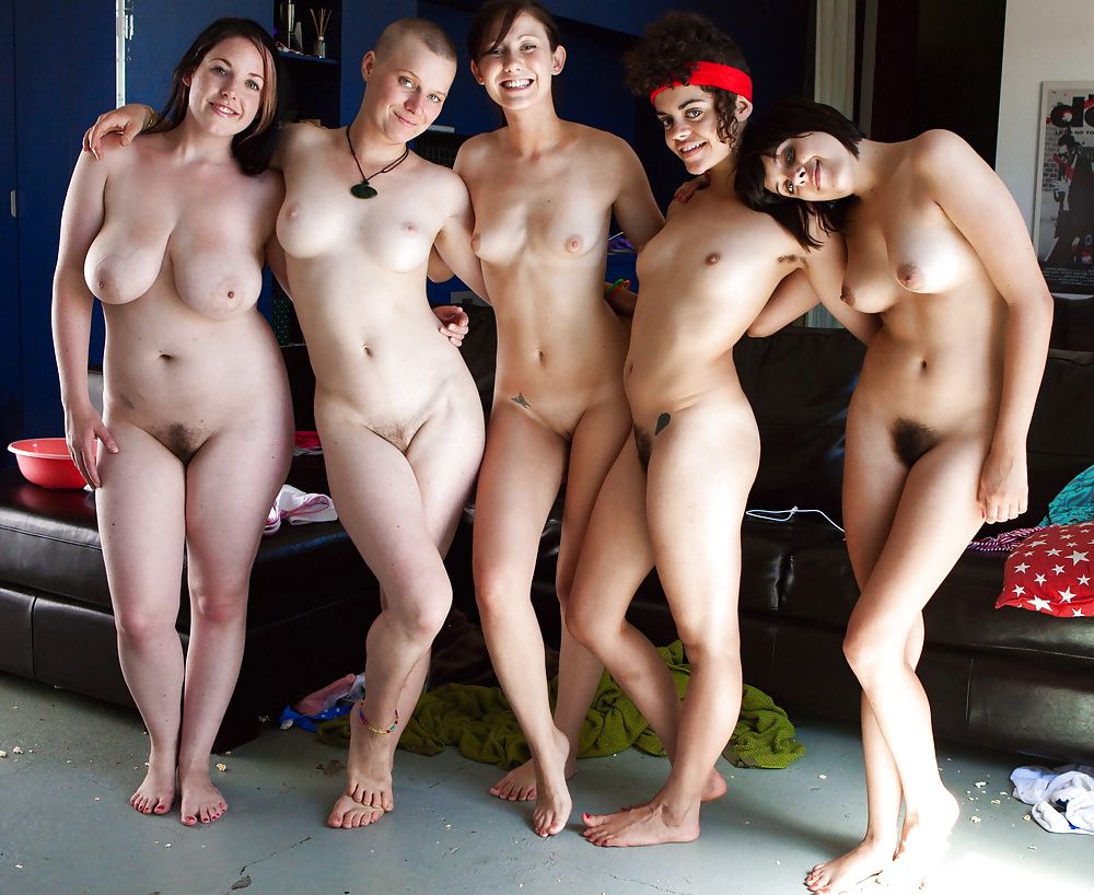 Naked multiracial women