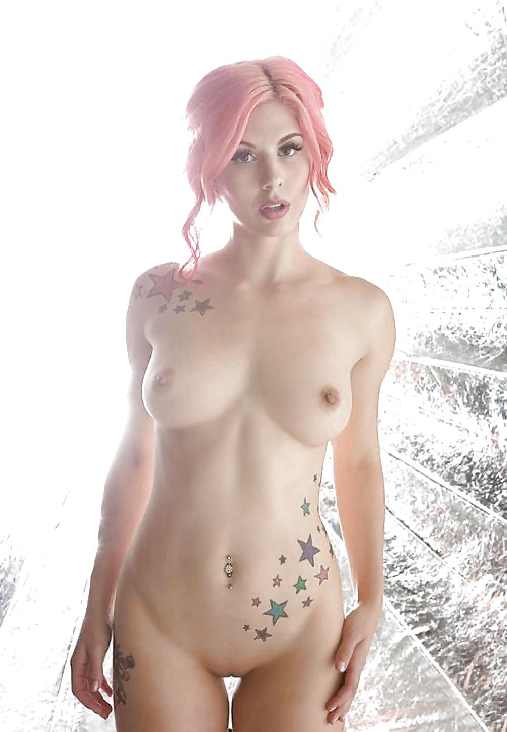 Pink girl nude