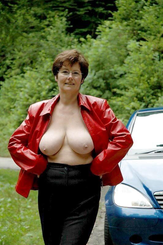Beautiful Caucasian Mature Woman In Business Suite, Headshot Stock Photo