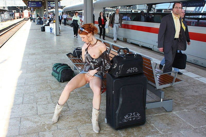 Naked teen train station, bisexual girls sucking tits