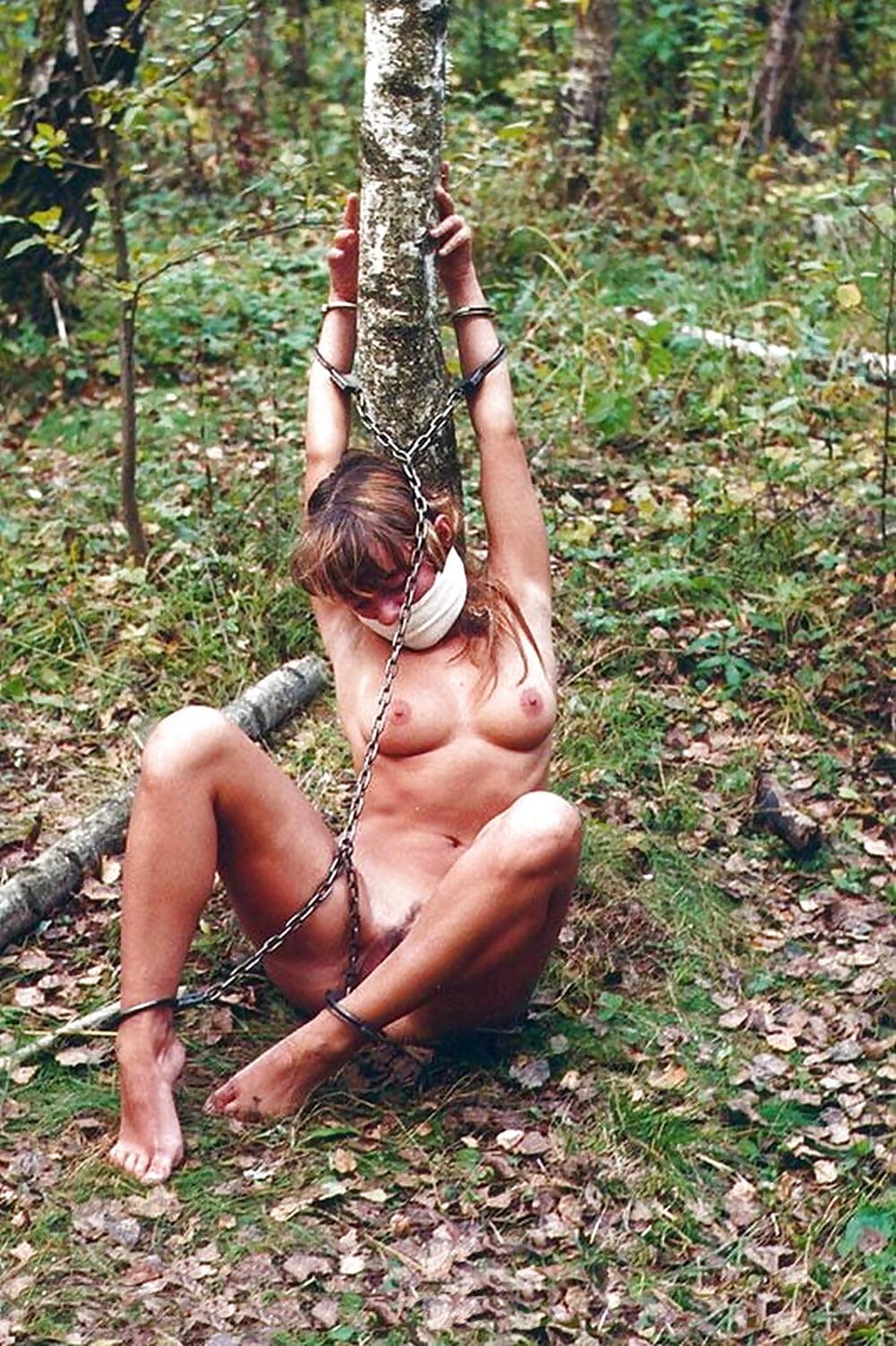 Guy Naked Outdoor Bondage