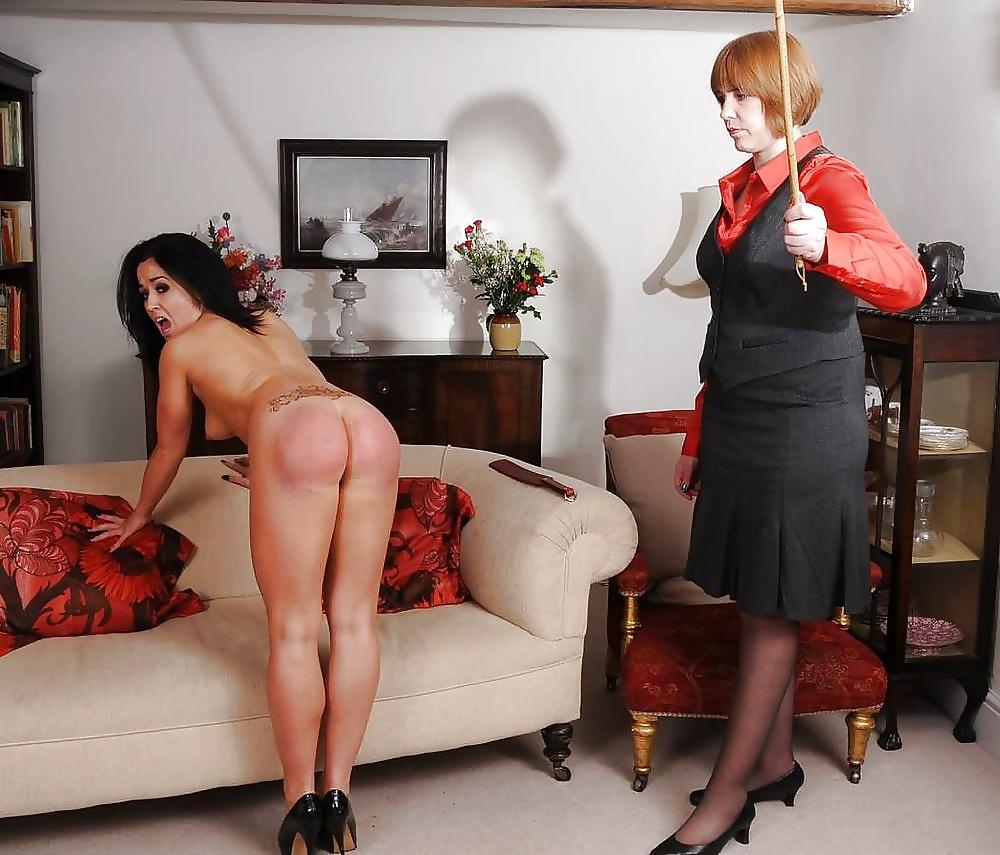Spanking laps mature female authority