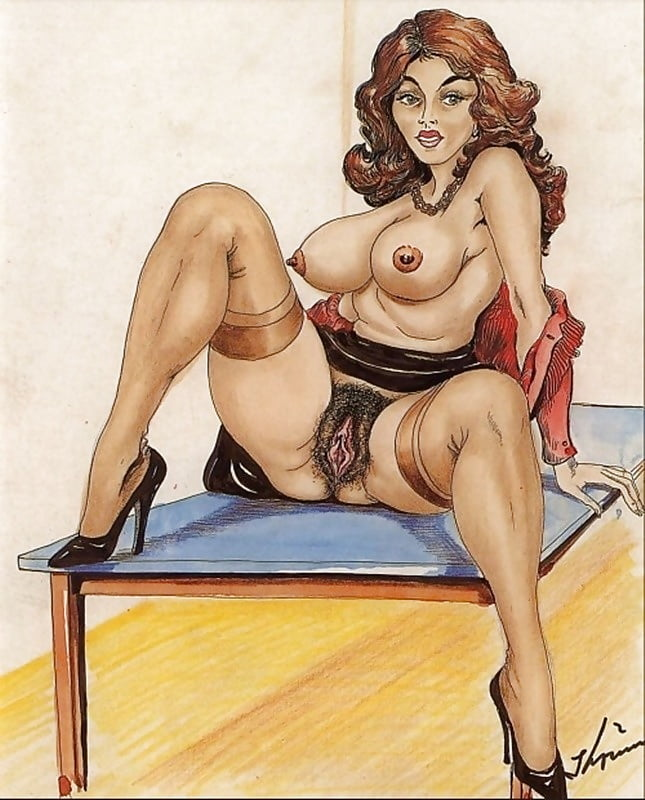 Leggy Cartoon Monica With Big Ass Caressing Her Hairy Pussy