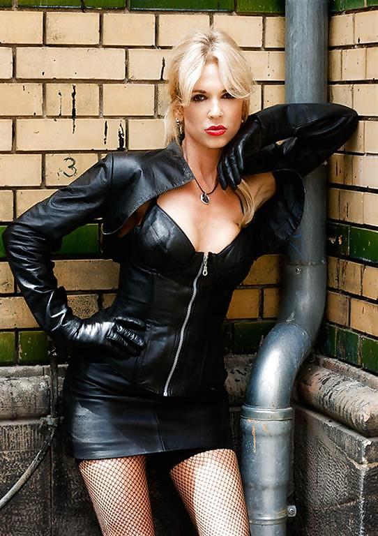 Black nude women leather jacket