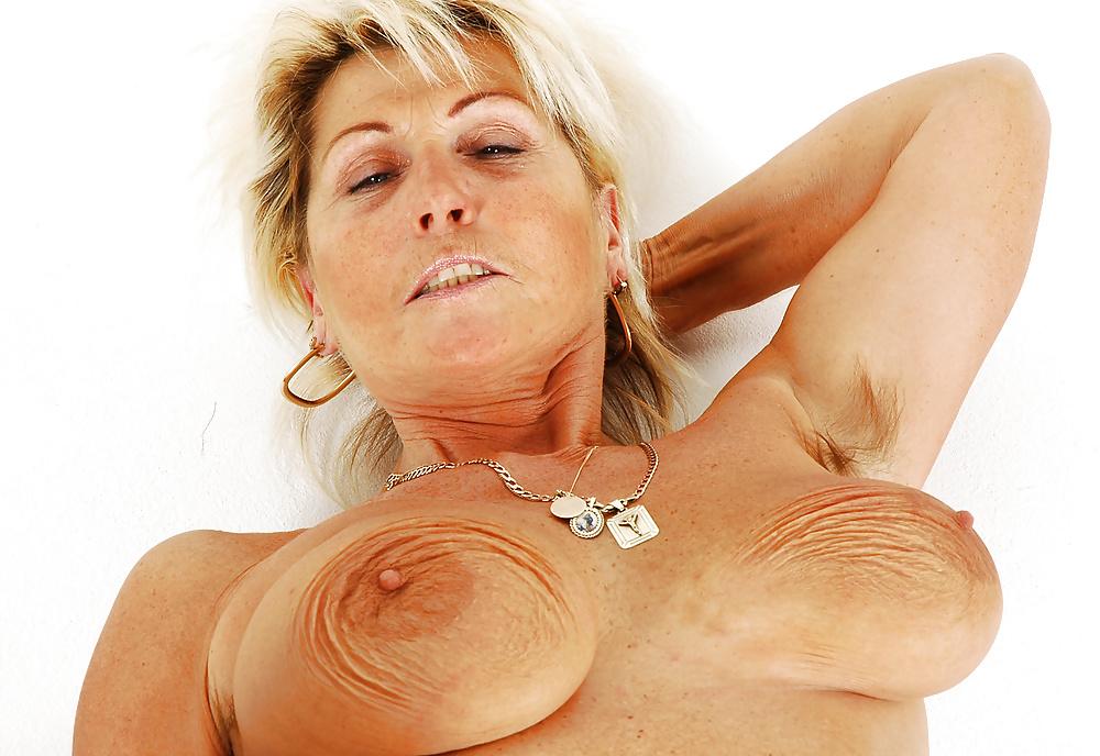 Hairy granny armpit