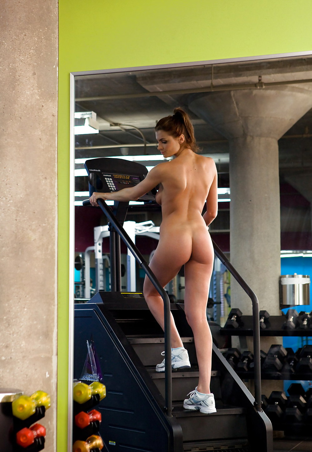 Nude Woman Naked Workout