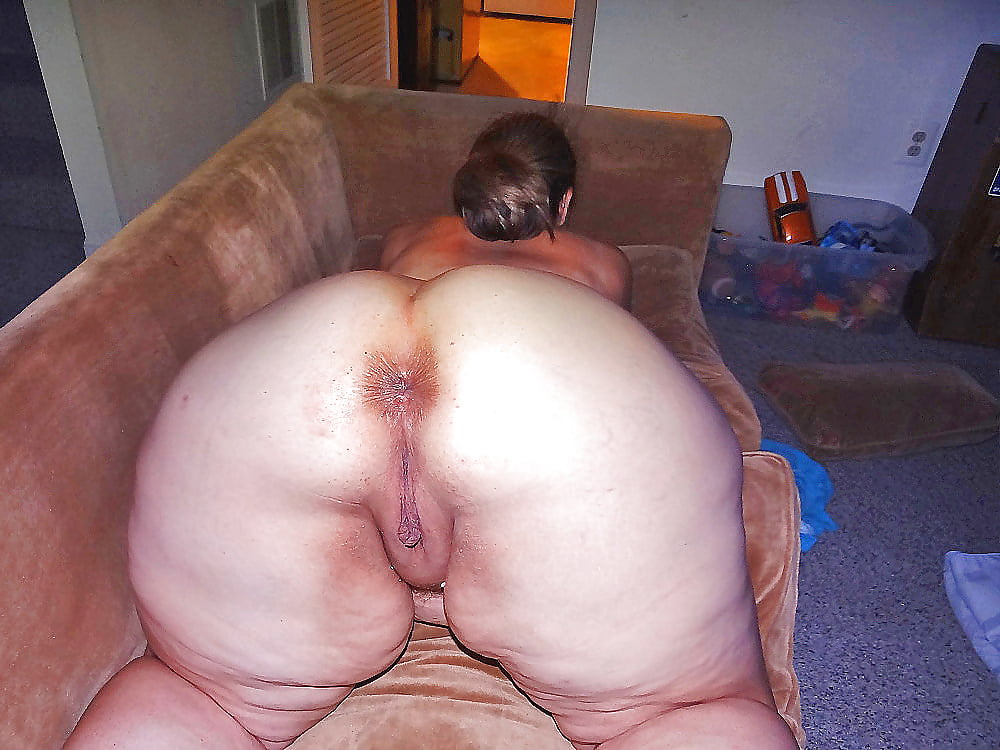 Big fat old white ass nude — img 2