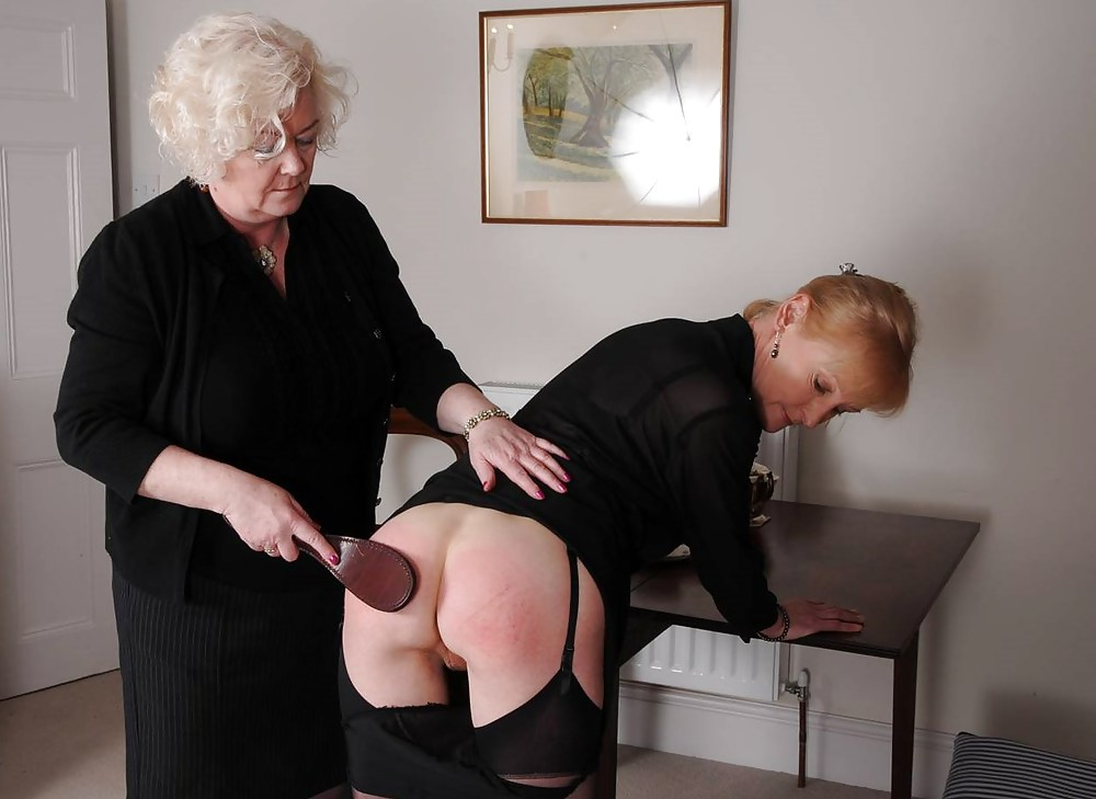Lesbian spanking and caning of all bbw slave by fat mistress in the dungeon