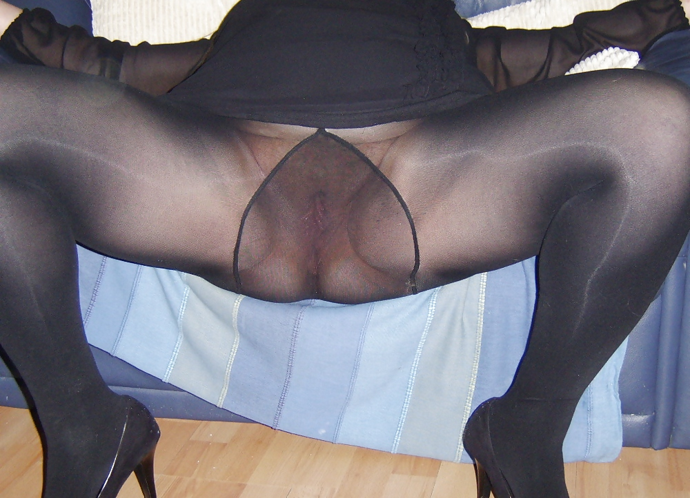Apologise, but, Black pantyhose upskirt
