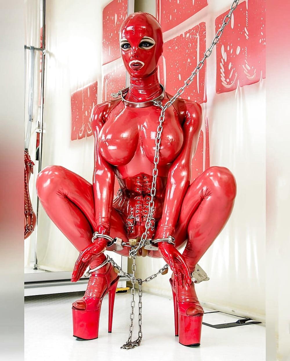Latex bdsm bondage slave