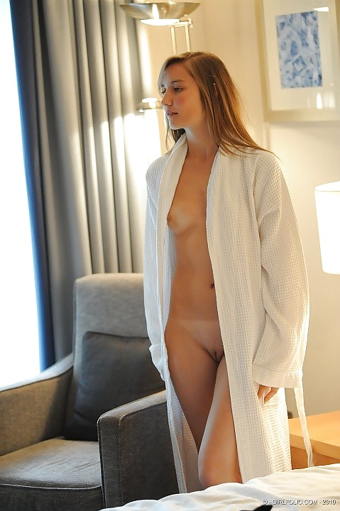 Sexy girls in bath robes