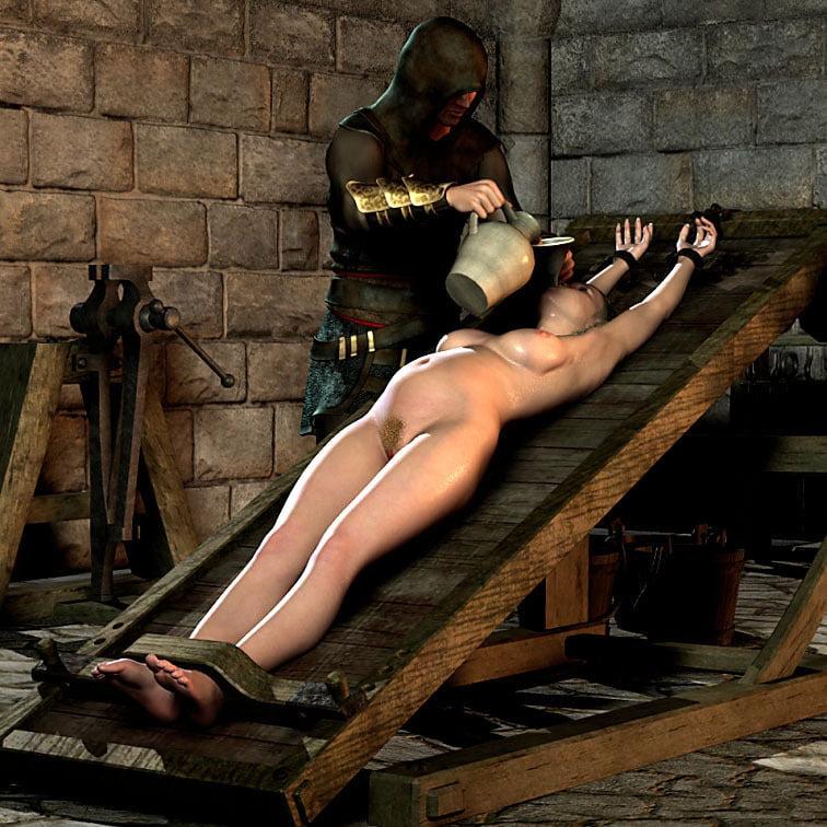 Helpless naked girl torture