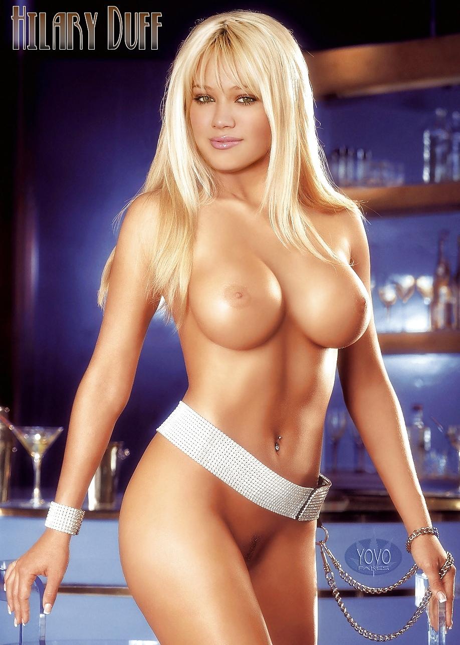Hilary duff fake tits