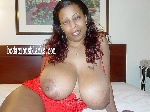 Big Black Natural Boobs