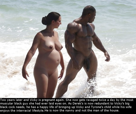 wife at nude beach with black men