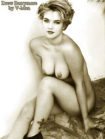 Topless Naked Pictures Drew Barrymore Pic