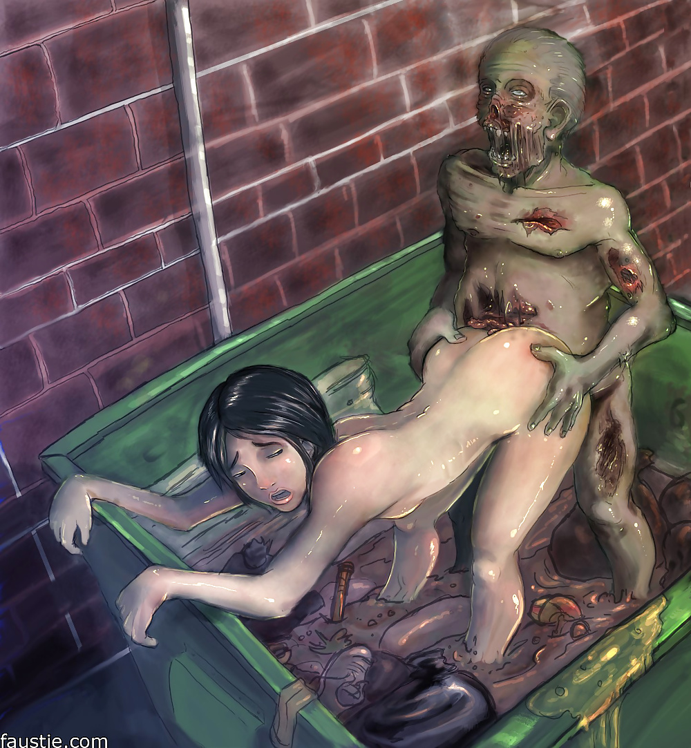 Sexy Zombie Chick Nude