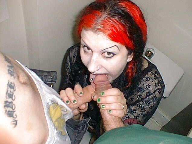 Hot Goth Slut With A Long Tongue Gives A Gret Blowjob Tnaflix Porn Pics