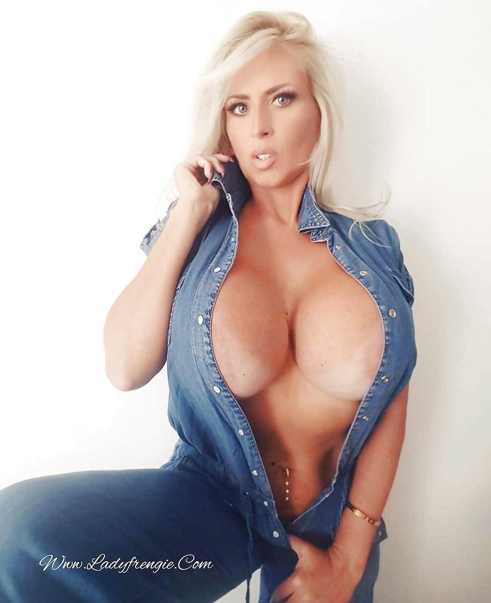 Tight shirts on fake tits