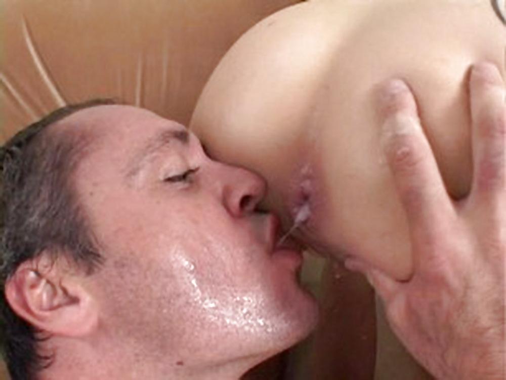 Men eat cum, porn