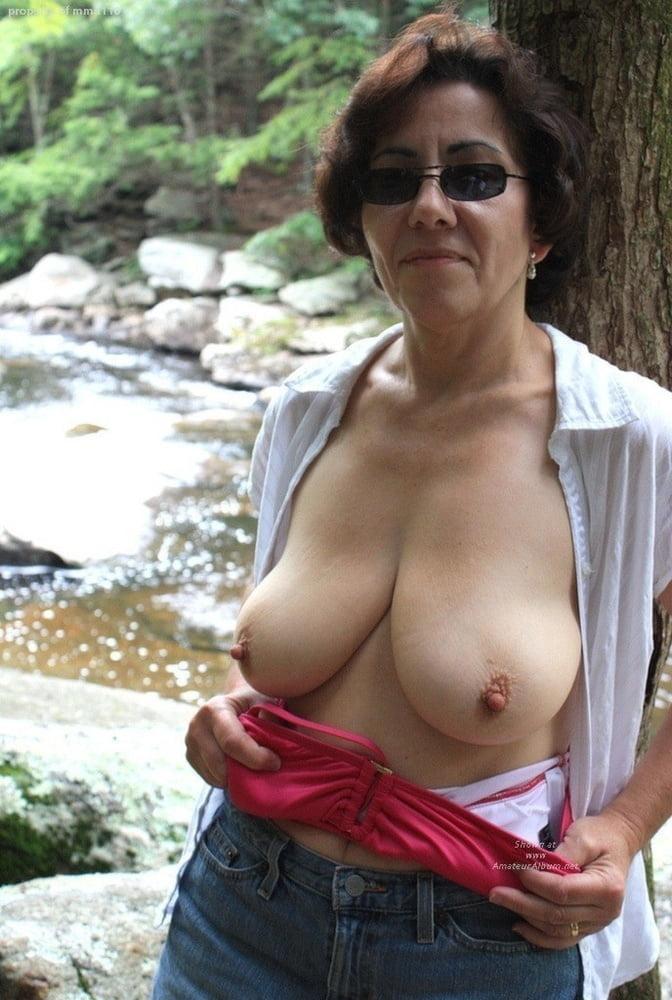 Mature breast picture