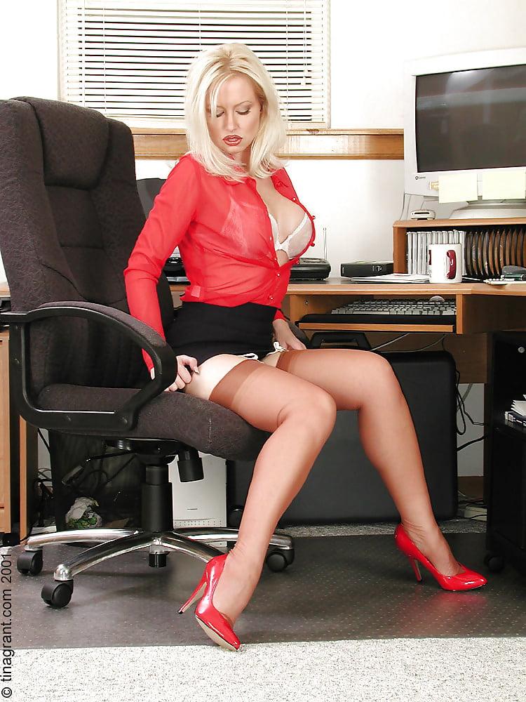 Big tit lesbian secretary