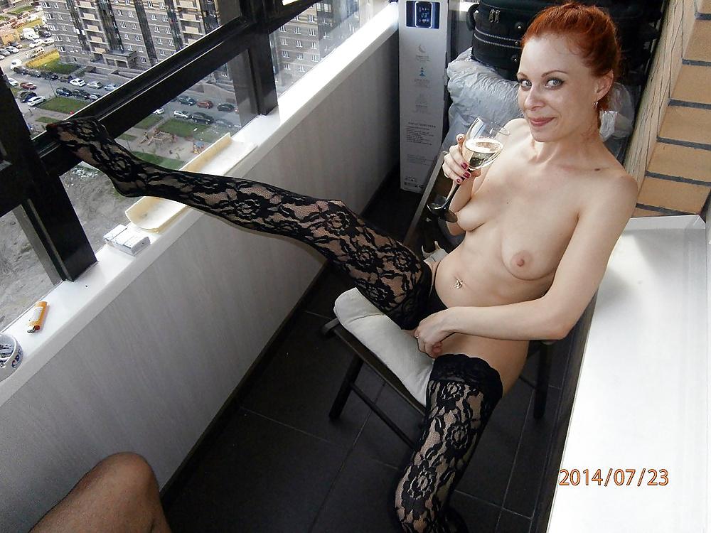 она русское частное порно на балконе сидя попой