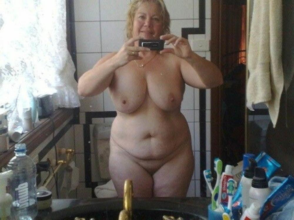 Mature Chubby Milf Nude Selfie