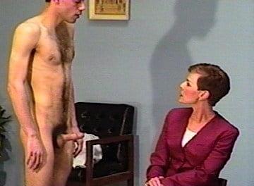 Spanking naked boy with erection, naked in public female