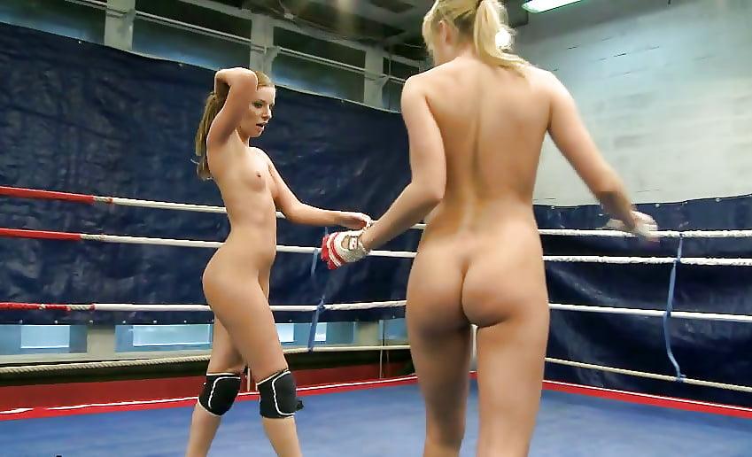 Women boxing topless