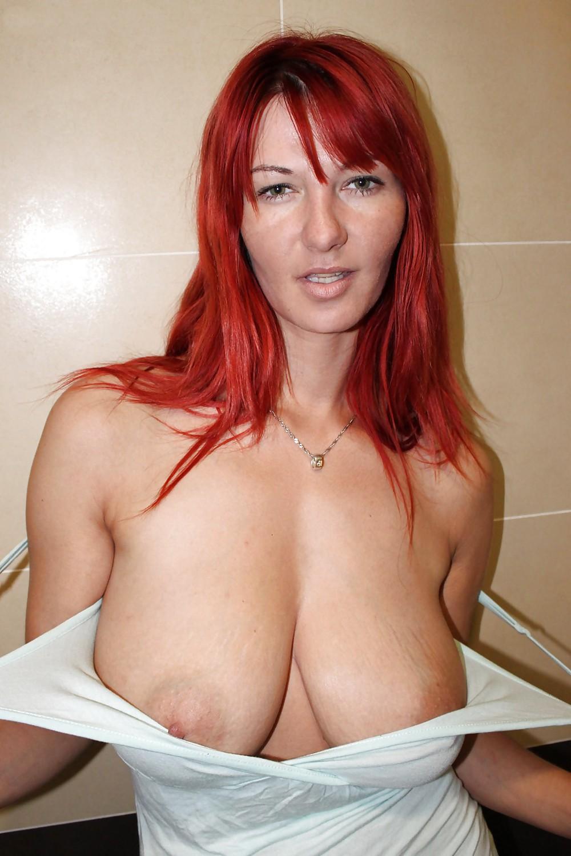 Full sexy busty redhead mature black tits big