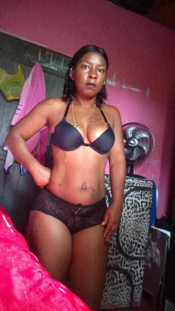 Black sexy girls wearing panties bikinis high heels