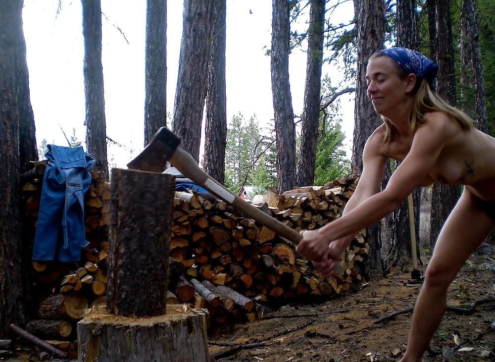 Run in the wood nude