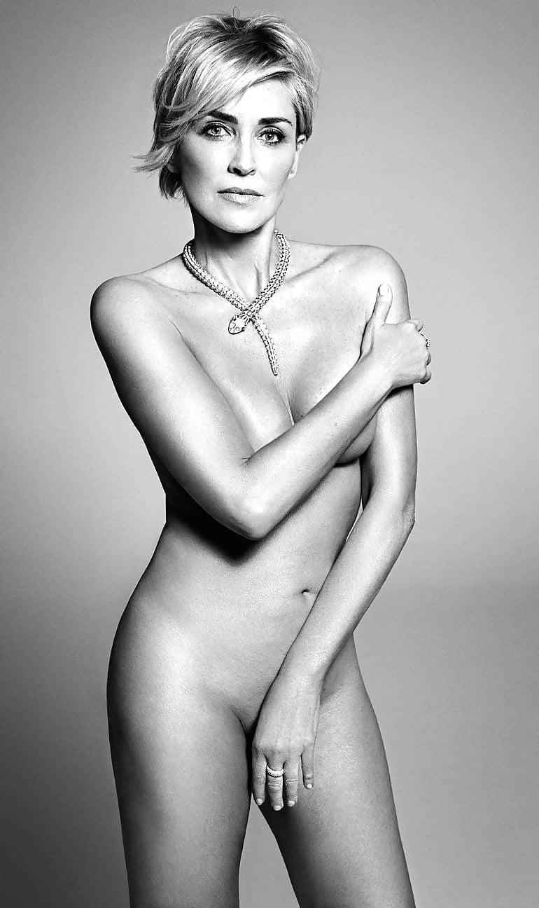 Real sharon stone naked ass photos #13