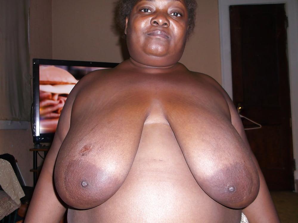Huge black tits fucked