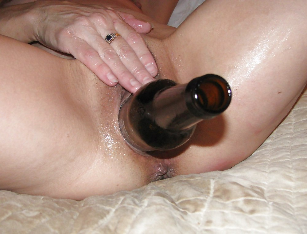 Bottle in cunt sex