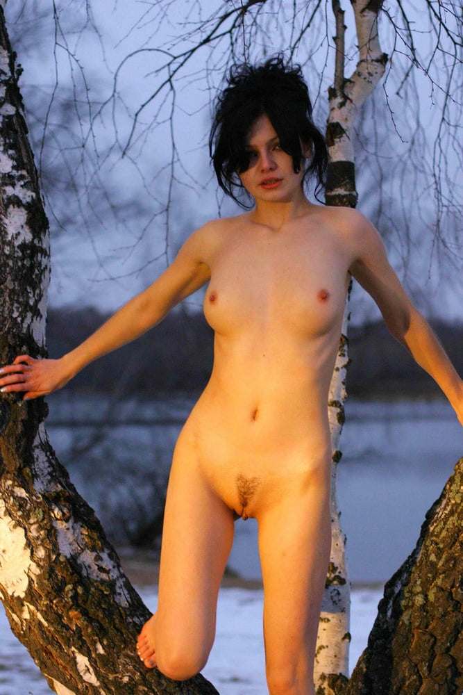 Nude girl forest