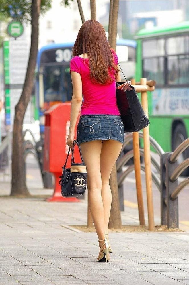 Sexy Girl Short Skirt Image Photo