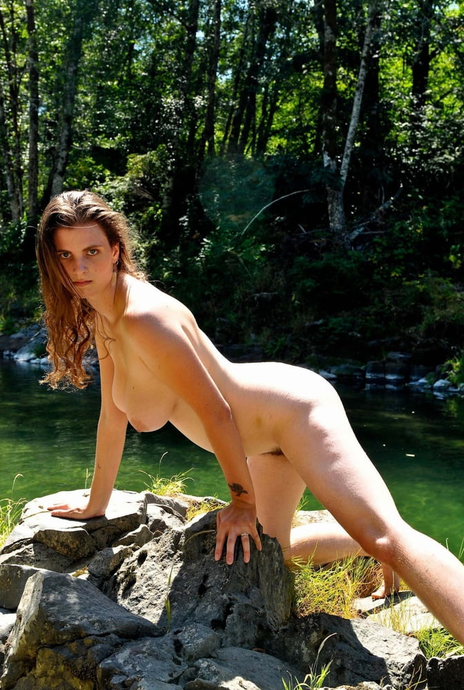 Hairy Hippie Naked Outdoor Eurocurves 1