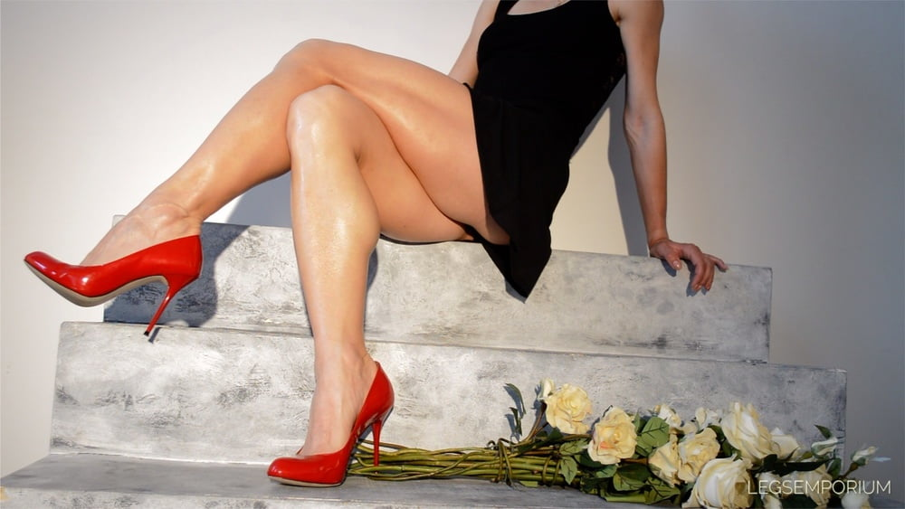 Sexy american hispanic woman with open legs stock photo
