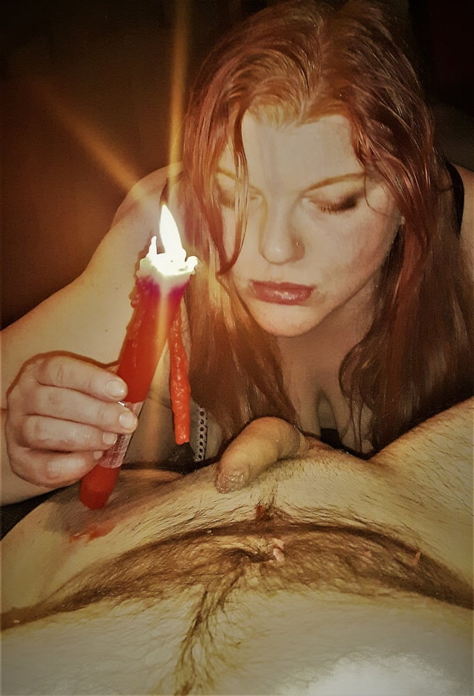 BBW Wife Miss Lizz candle play- 27
