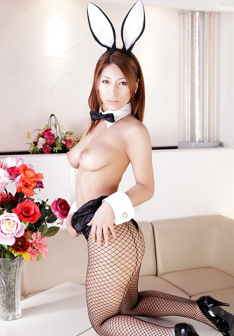 Japanisches mädchen bunny girl cosplay