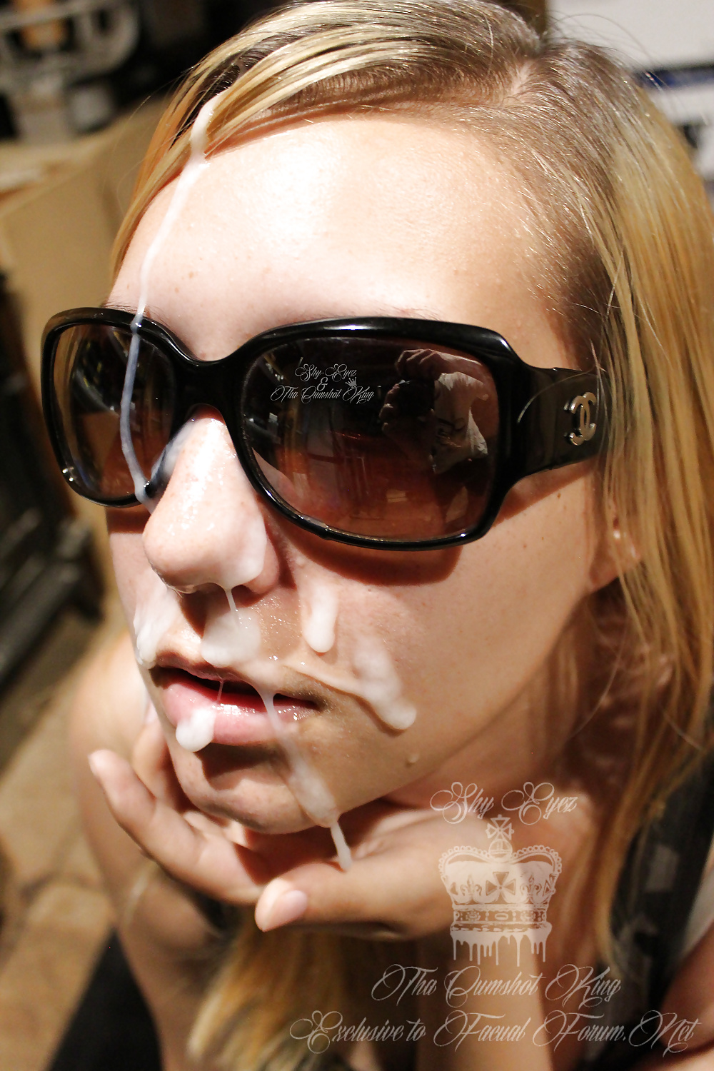 Girls with cum on there glasses — photo 13