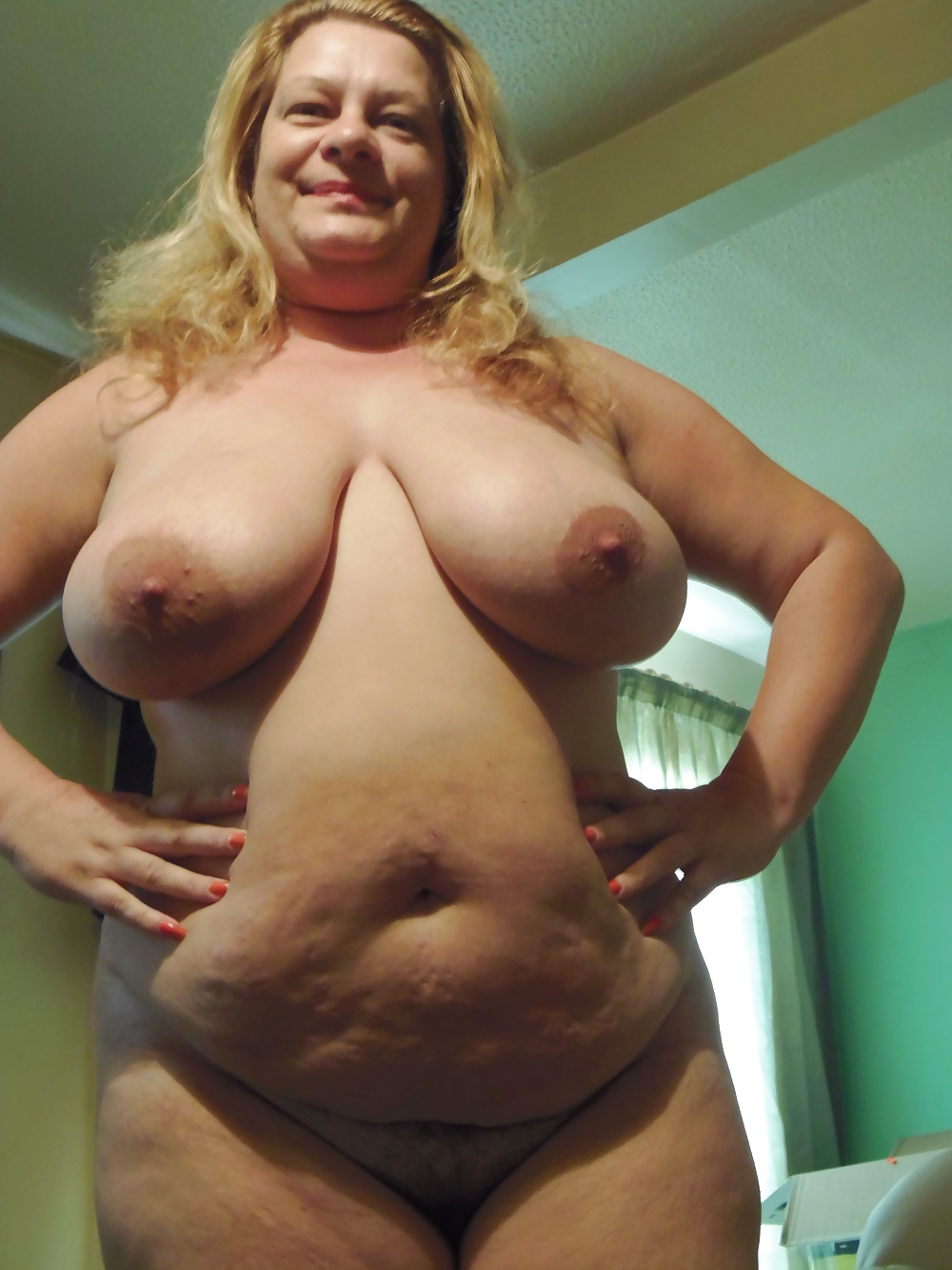 Saggy Belly Mature Breasts