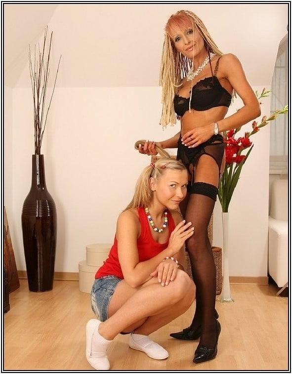 Mature lesbian latex-9495