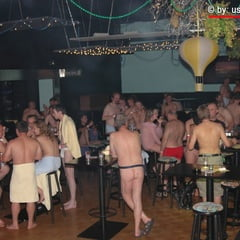 Saturday Night Fever Gangbang Relax & Pee Time Part 2