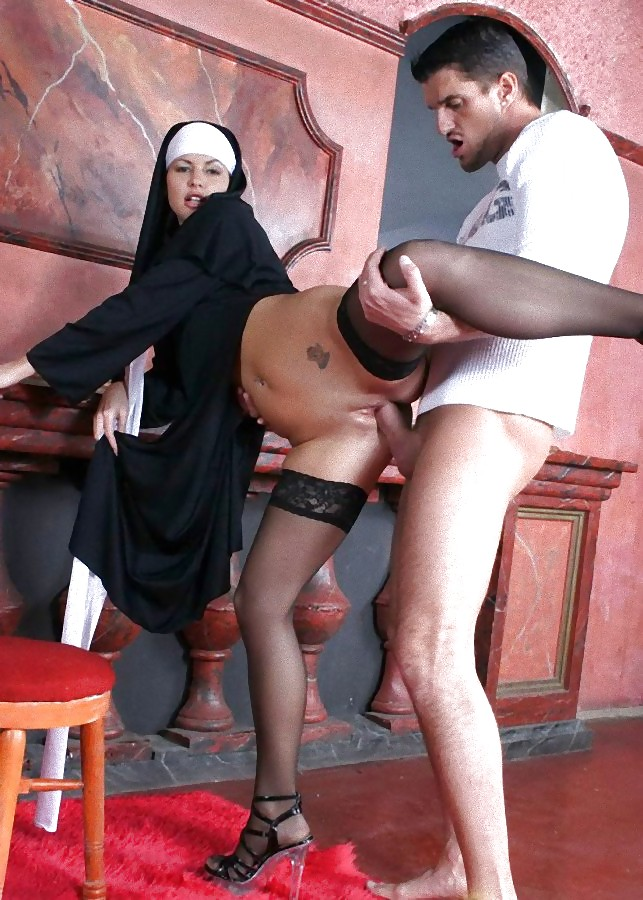 Hardcore nun fuck, vegetable ass