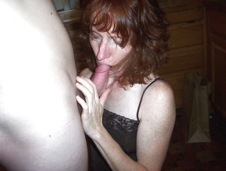 Red Head Milf Sucking and Fucking