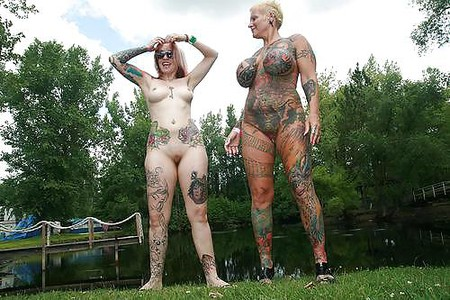 inked thick mature exhibitionist